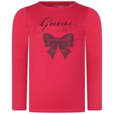 GUESS GuessPink Bow Print Jersey Top