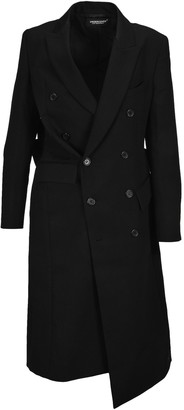Undercover Double-Breasted Bow-Detailed Coat