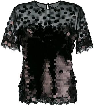 Ermanno Scervino square sequin shirt