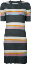 MAISON KITSUNÉ striped ribbed-knit dress - women - Nylon/Polyester/Acetate - M