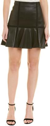 Alice + Olivia Delma Leather Mini Skirt