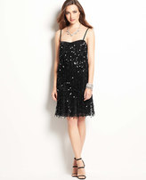 Ann Taylor Sequin Fringe Dress