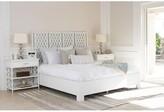 David Francis Furniture Casablanca Standard Bed Size: King, Color: White