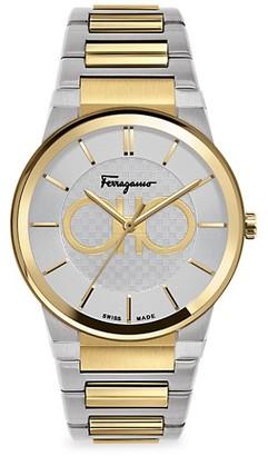Salvatore Ferragamo Sapphire Yellow Gold IP & Stainless Steel Bracelet Watch