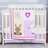 Dream On Me Nap Time Friends 3-Piece Reversible Portable Crib Bedding Set.