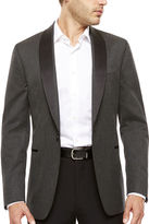 Jf J.Ferrar Black Grey Houndstooth Slim Sport Coat