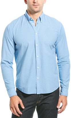 Billy Reid Taylor Garment Dyed Standard Fit Woven Shirt