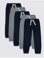 Marks and Spencer 5 Pack Joggers (3 Months - 5 Years)