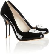 Webster Sophia Loulou embellished leather pumps