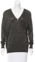 Diane von Furstenberg Metallic V-Neck Sweater