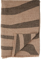 Alicia Adams Alpaca Zebra-Striped Throw