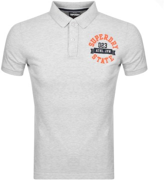 Superdry Classic Short Sleeved Polo T Shirt Grey