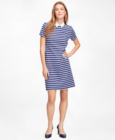 Brooks Brothers Cotton Knit Stripe Dress