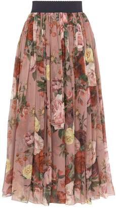 Dolce & Gabbana Silk Floral Skirt