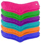 Luxury Divas Bright Colors Assorted Fuzzy 6 Pack Socks