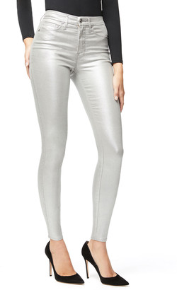 Good American Good Waist Metallic Coated Skinny Jeans - Inclusive Sizing