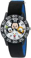 Disney Boy's 'Mickey Mouse' Quartz Plastic and Nylon Watch, Color: (Model: W003005)