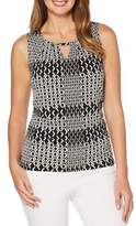 Rafaella Diamond-Print Sleeveless Top