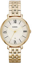 Fossil Jacqueline Three Hand Stainless Steel Watch Gold Tone