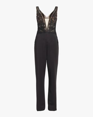 Badgley Mischka Lace Jumpsuit