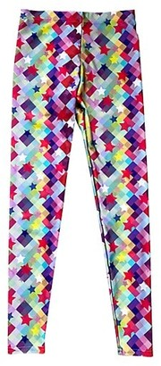 Terez Little Girl's Checker Star Leggings