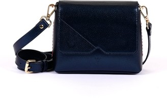 Hiva Atelier Mini Mare Leather Bag Metallic Navy