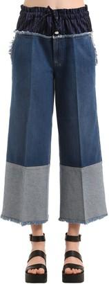 Sonia Rykiel Cropped Denim Jeans W/ Boxer Waist