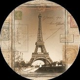 Thirstystone TS2133 Natural Sandstone Coaster Set Eiffel Tower