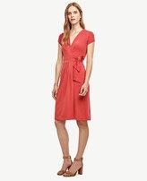 Ann Taylor Petite Pleated Wrap Dress