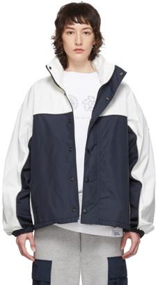 Rassvet Navy and White Colorblocked Anorak Jacket