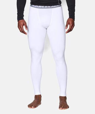 Under Armour Men's Leggings WHITE - White UA ColdGear Armour Leggings - Boys, Men, Big & Tall
