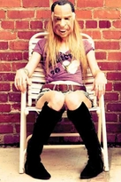 Rebel Yell Addicted to Love Skinny V Tee in Hot Pink