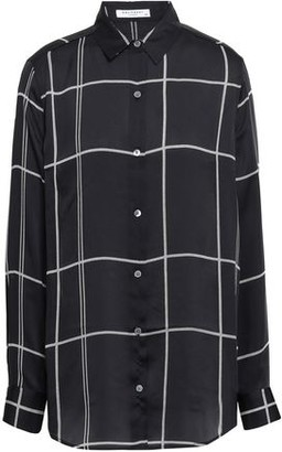 Equipment Essential Checked Washed-crepe Shirt