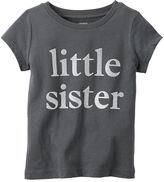Carter's Baby Girl Short Sleeve Jersey Graphic Tee