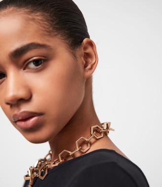 AllSaints Hexlink Gold-Tone Necklace