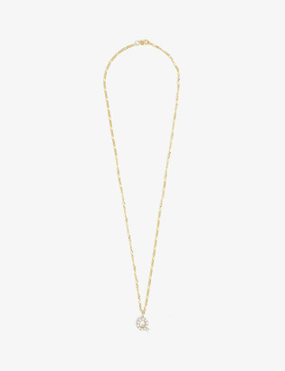 Otiumberg Figaro alphabet aQa pearl and 9ct gold chain necklace