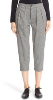 Comme des Garcons Women's Check Wool Crop Pants