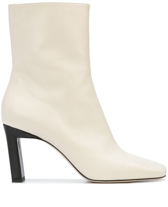 Wandler Isa two-tone ankle boots