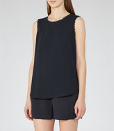 Reiss Acorn Lace-Trimmed Tank Top