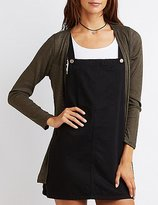 Charlotte Russe Ribbed Open Cardigan