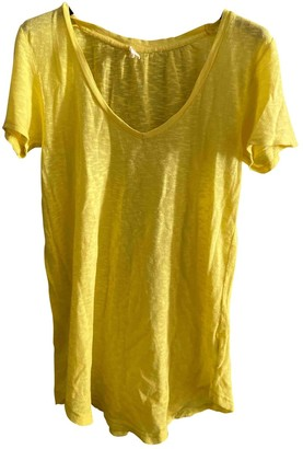 American Vintage Yellow Cotton Top for Women