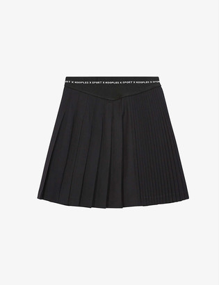 The Kooples Sport Pleated wool mini skirt