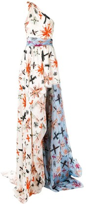 Fausto Puglisi Flared Maxi Dress