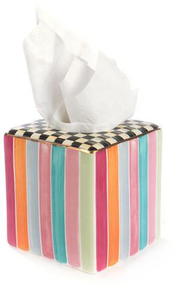 Mackenzie Childs MacKenzie-Childs Ribbon & Dot Boutique Tissue Box Holder