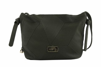 For Time Bandolera lisa Womens Cross-Body Bag Black (Negro) 12x23x25 centimeters (W x H x L)