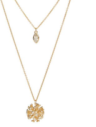Alexis Bittar Crystal Burst Long Layered Pendant Necklace