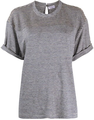 Brunello Cucinelli monili-embellished striped T-shirt