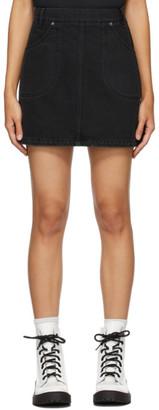 Kenzo Black Denim Miniskirt
