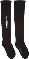 Rick Owens Black Mastodon Over-the-knee Socks