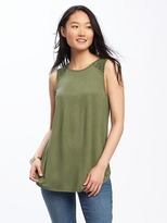 Old Navy High-Neck Lace-Trim Swing Tank for Women